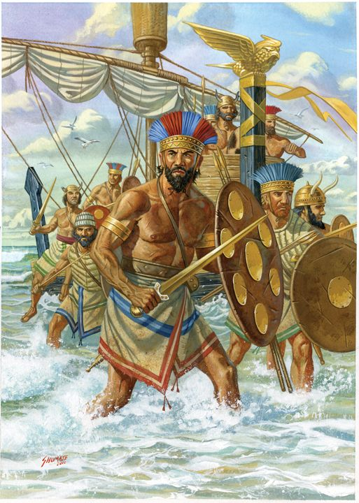 The Sea People.  A mysterious group of sea-borne warriors that ravaged the late Bronze Age Aegean.