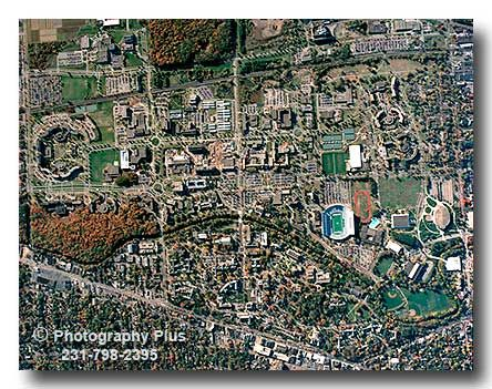 Michigan State University Campus (aerial view) Almost as big as my home town. 43,000 in 1977