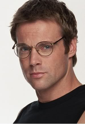 Michael Shanks with his Daniel Jackson glasses from Stargate.