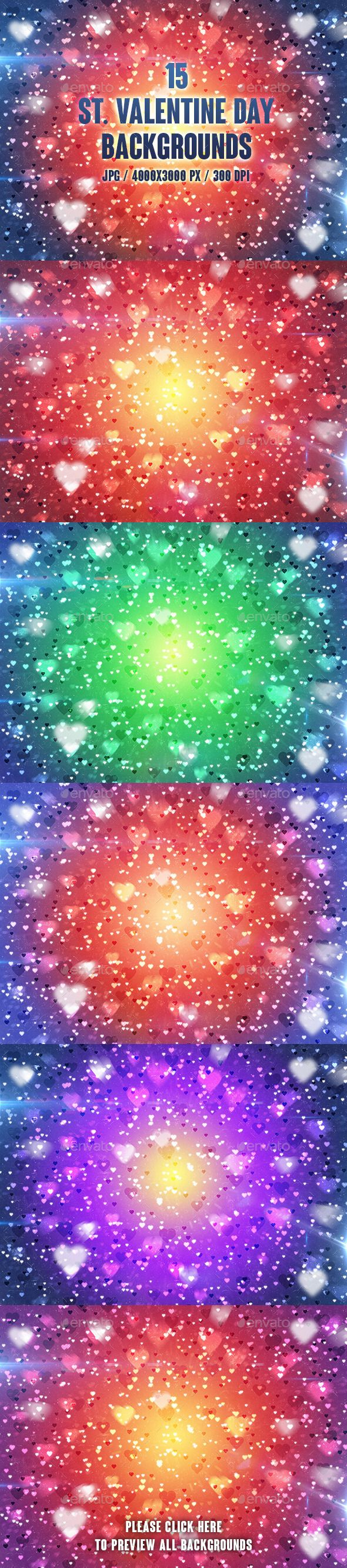 15 St. Valentine Day Backgrounds by groovydes Set of 15 jpg backgrounds, which are ideally suited for congratulations, cards, posters, banners or site devoted to Valentine鈥檚 Da
