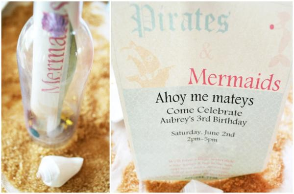 @Katherine Eaker- Cute idea for future birthday party for Rebecca and Atticus? Pirates + mermaids party theme-- cute for a joint sibling birthday