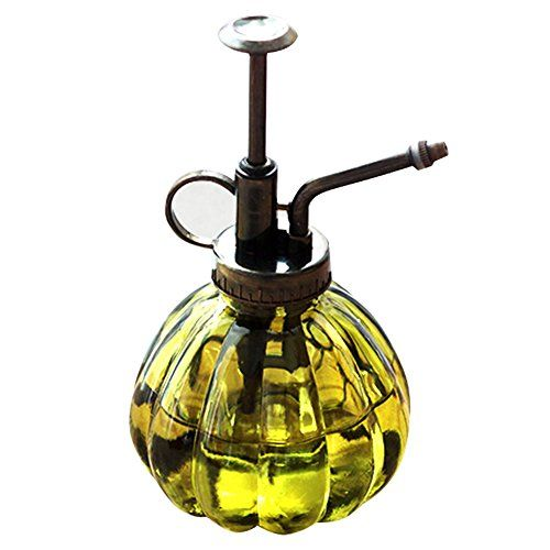 Water Spray Bottle Vintage Pumpkin Style Decorative Glass Plant Atomizer Watering Can Pot   Plant Mister with Top Pump for Indoor Potted Plants Terrariums Flowers [Yellow]:   PRODUCT FEATURE:/bbr * Capacity: About 200MLbr * Color: Yellowbr * Total Size (A