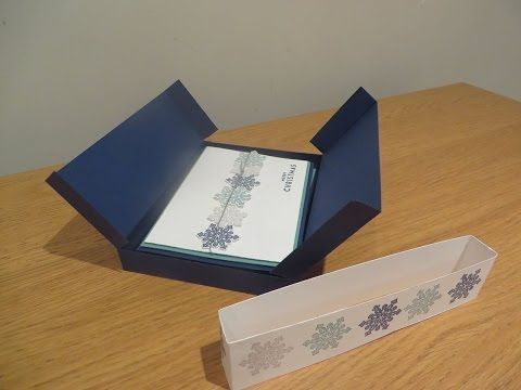 Card Gift Set Box Tutorial, Handmade Box Tutorial using Flurry of Wishes from Stampin' Up - YouTube