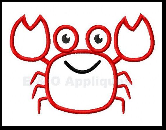 Apliques de diseño  el cangrejo cangrejo bordado diseño