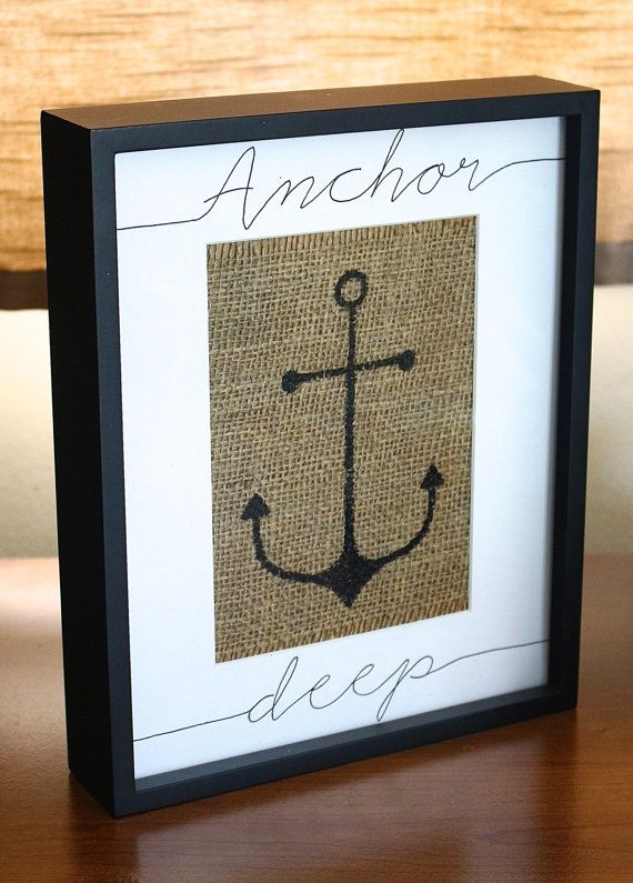 Anchor Deep Burlap Picture Frame