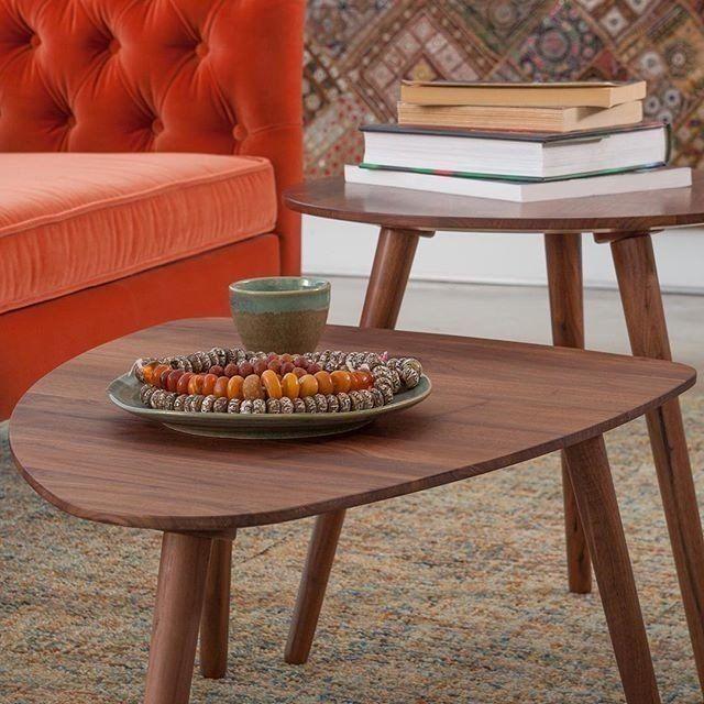 Amoeba Wild Walnut 29 5 Wide Coffee Table Coffee Table Mid