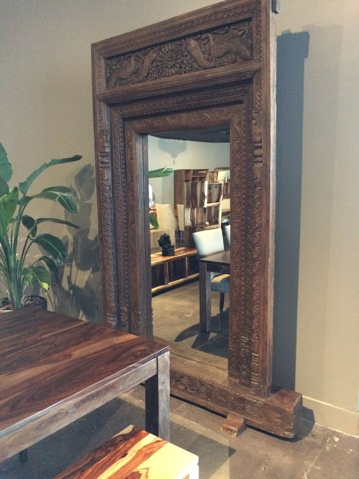 "The mirror we saw at Artemano: the pedestal is 72""W x 17.5""D; The mirror is 57""W x 101""H"