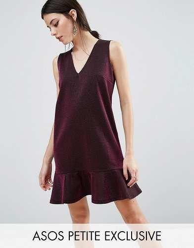 Prezzi e Sconti: #Asos petite vestito metallico con fondo a taglia It 44  ad Euro 14.99 in #Asos petite #Female saldi vestiti vestiti