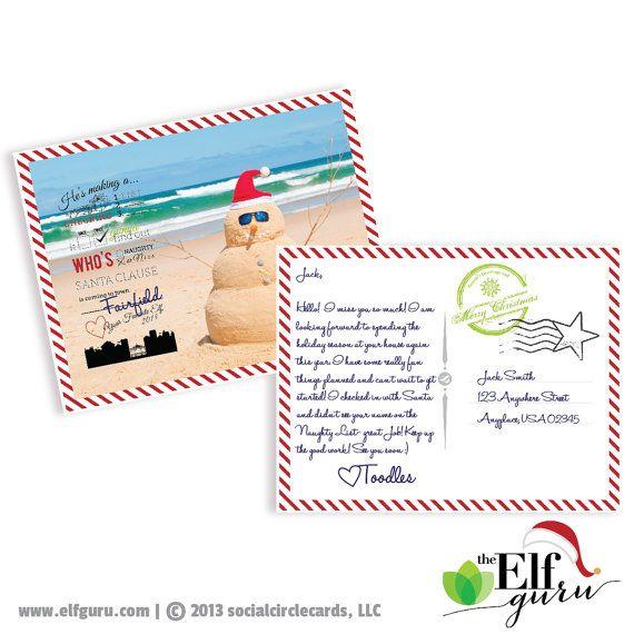 SALE // Elf Vacation Postcard // A Printable Elf File // INSTANT DOWNLOAD