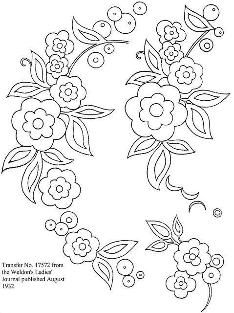 brush embroidery flower template - Google Search