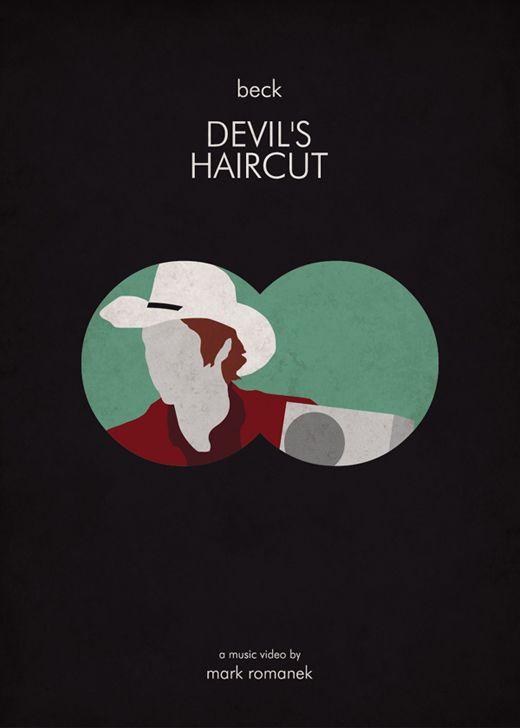 Devils hair cut - Beck (Minimalist Music Video Poster)