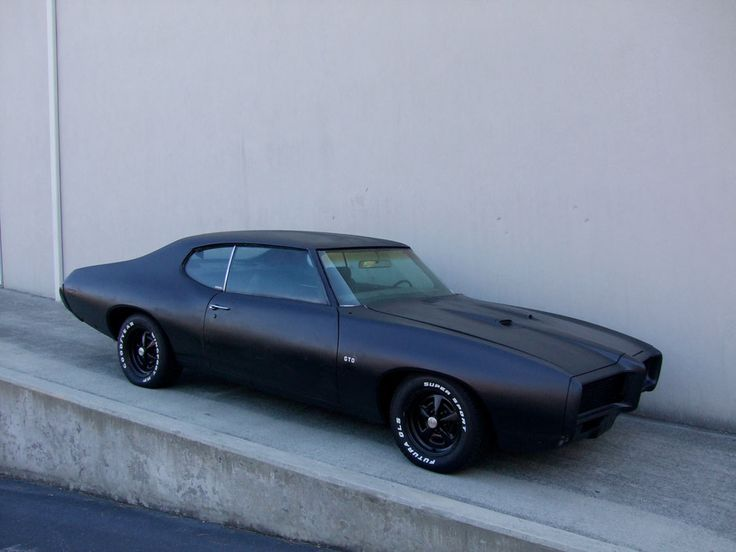 1969 Pontiac GTO -- (Used in The Punisher 2004)....I just like how everything is blacked out. A chevelle would look good like this