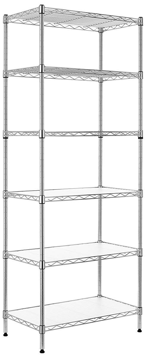 6 tier wire shelving unit adjustable steel shelf and bookcase in rh pinterest com