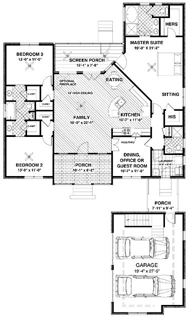 Craftsman Home with a few alterations and this house plan may just be spot on