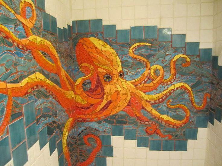 Bathroom Mosaic Tile Art: 56 Best Images About Ocean Mosaics On Pinterest