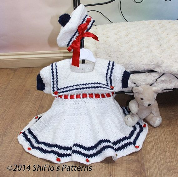 Hey, I found this really awesome Etsy listing at https://www.etsy.com/listing/73569862/crochet-pattern-for-baby-sailor-dress
