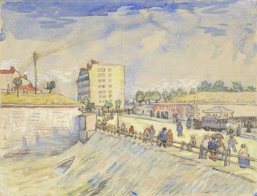 Gate in the Paris Ramparts, 1887, Vincent van Gogh, Van Gogh Museum, Amsterdam (Vincent van Gogh Foundation)