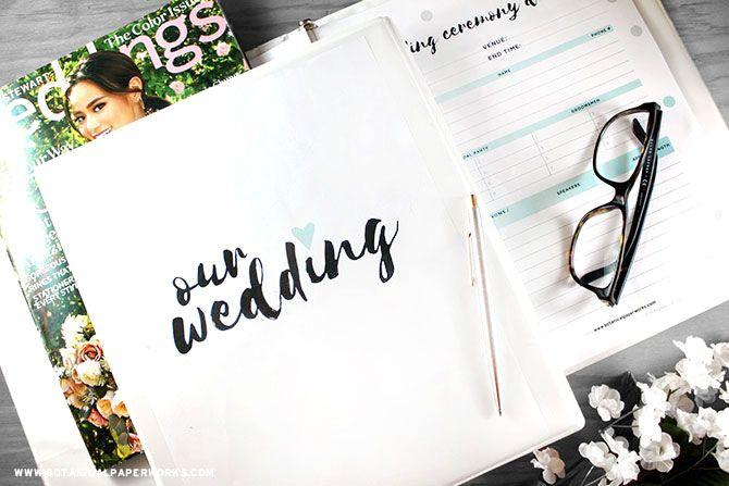 Printable Wedding Planner Binder Planning A Rustic: 25+ Best Ideas About Wedding Binder On Pinterest
