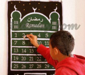calendrier de ramadan à coudre ,inspiration
