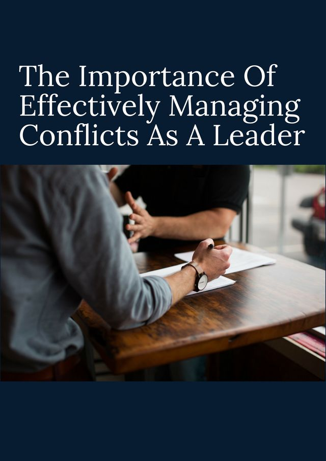 how leaders manage conflicts for the success Shipley says that managers who have a command-and-control style of leadership can get a lot accomplished, but, he says, they achieve short-term you can have great success but you can't maintain.