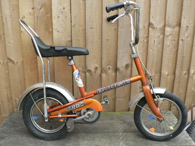 Budgie Bike. I had this, with LOADS of bread tags on the brake cables!