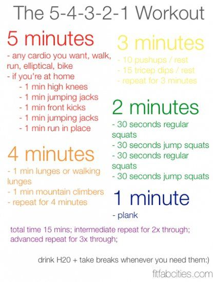 From the Community: Printable 5-4-3-2-1 At-Home Circuit Workout