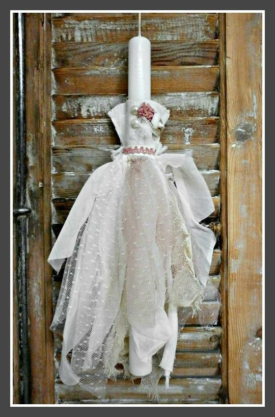 Πασχαλινή Λαμπάδα Φόρεμα Νο2 18€