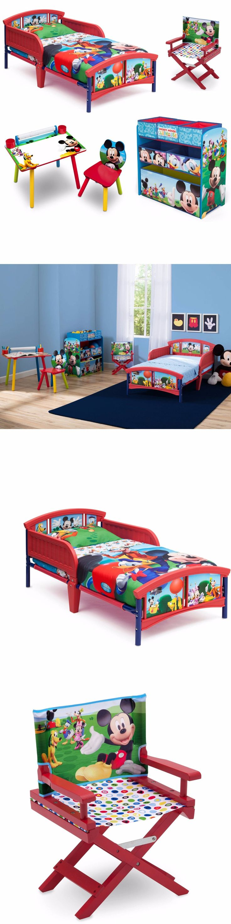Kids Furniture: Cheap Bedroom Sets Kids Furniture Disney Mickey Mouse Toddler Bed Chair For Boys BUY IT NOW ONLY: $152.82