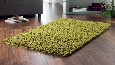 Large chenille twists make this a great super soft textured rug for any room.