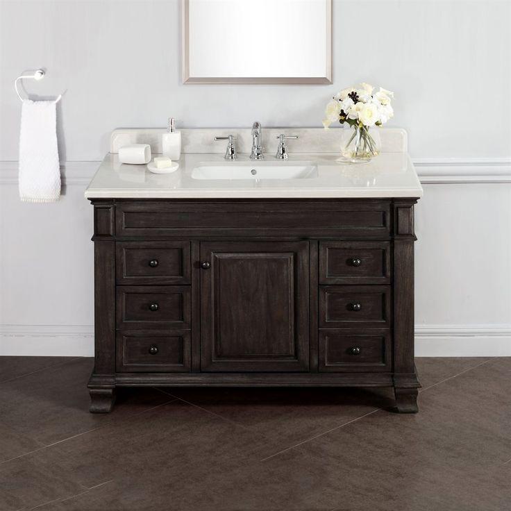 38 best rustic bathroom vanities images on pinterest - Rustic vanity cabinets for bathrooms ...