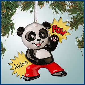 Personalizedfree.com Personalized Christmas Ornaments - Kung Fu Panda