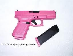 pink hand gun glock asked my daddy for this today