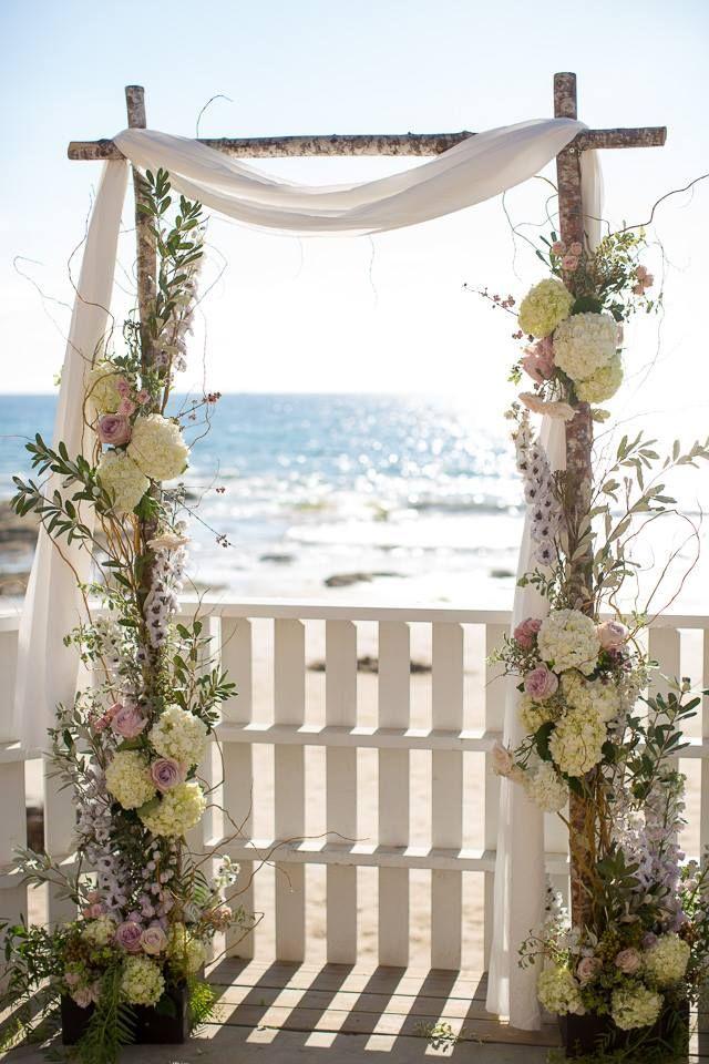 Birch wood arch 9 best Surf wedding
