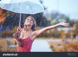 Image result for walking in the rain without an umbrella