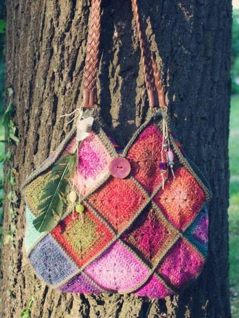 Crochet Boho Bag : boho bag