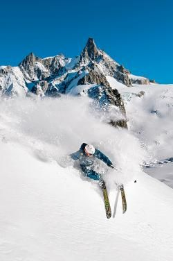 Skiing in Chamonix, France, French Alps. photo: Christian Aslund.