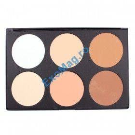 Trusa 6 nuante Pudra - http://exomag.ro/Truse-de-machiaj-Blush-farduri-eyeshadow-eyeliner-lipgloss/trusa-machiaj-6-culori-pudra-compacta-blusher-neutral-nude.html