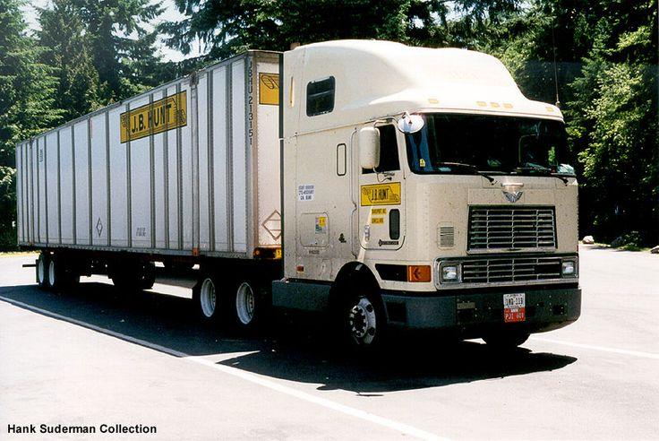 Jb hunt international cabover semi trucks pinterest