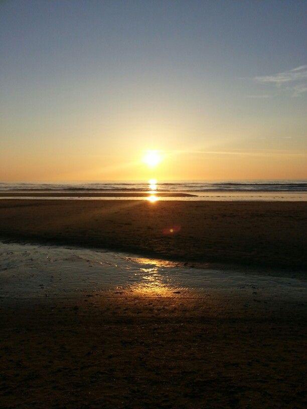 Zonsondergang Noordzee.