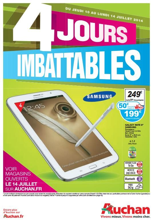 Auchan 4 Jours Imbattable 10-14 Juillet 2014