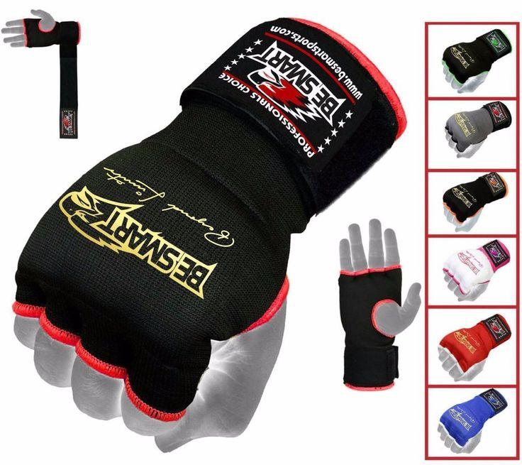 Inner Hand WRAPS Gloves Boxing GEL PADDED FIST Bandages MMA Gel Muay Thai