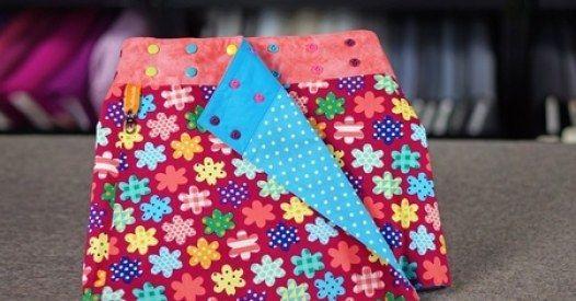 Um diesen bunten Wenderock für Kinder (7-11 Jahre) selber zu nähen und mit 'Color-Snaps' zu versehen, braucht man: jeweils 0...