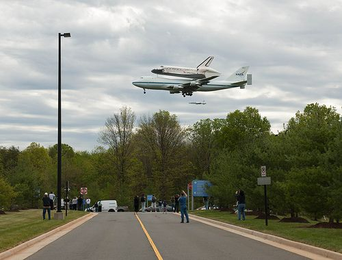 Space Shuttle Discovery Fly-Over