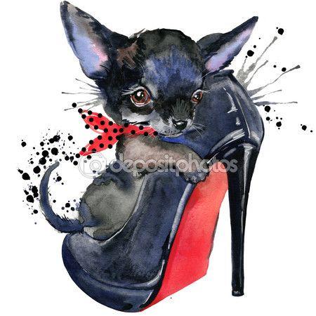 Милая собака. Собака футболку графика. Акварель фон, иллюстрации собака. Акварель смешная собака для печати, плакат мода для текстильных изделий, Дизайн моды. — стоковое изображение #100947770