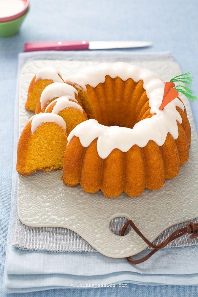 Torta di carote facilissima. (bolo de cenoura) Carrot cake, bundt cake nordicware