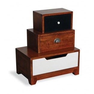 Fantastically different bedside tables - nice to have a talking point in the bedroom too on occasion!