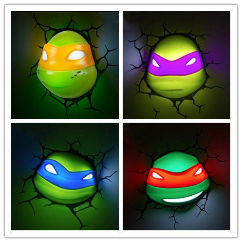 ==> [Free Shipping] Buy Best Hot Sell Teenage Mutant Ninja Turtles 3D Wall Lamp Amazing Living Room Bedroom Night Light Creative Lampada de parede Xmas Gift Online with LOWEST Price | 32644284881