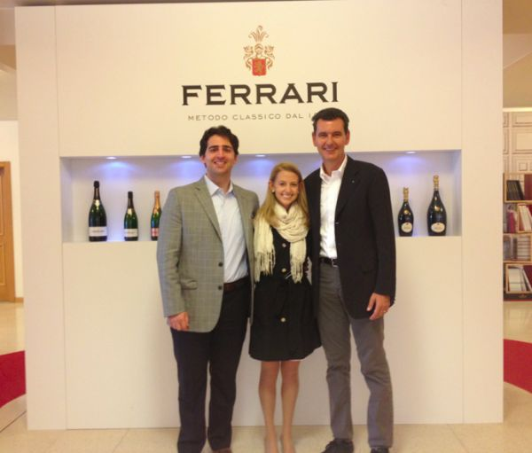 Martina, our food & wine specialist visiting the Ferrari winery with her husband Marco and owner Marcello Lunelli #wine