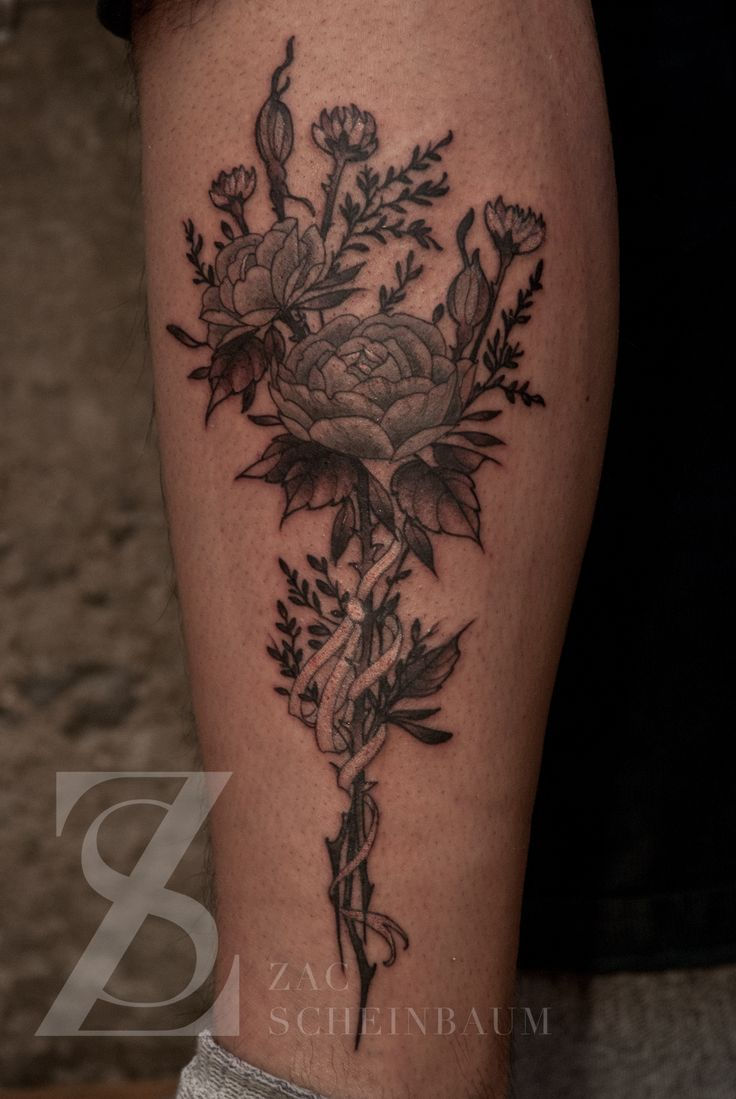 Bouquet Tattoo Tattoos: Flower Bouquet Tattoo - Google Search