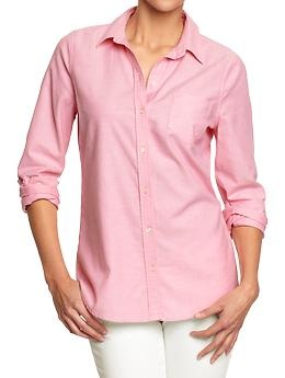 3/25 - Womens Oxford Shirts | Old Navy $19.00